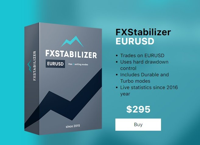 FXStabilizer EA EURUSD - Second Version Trades On EURUSD Currency Pair Only