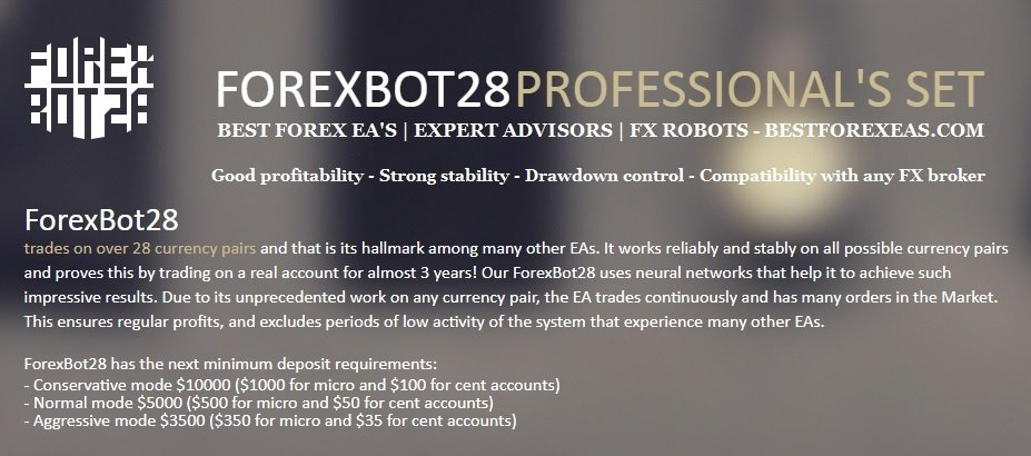 ForexBot28 Review - ForexBot28 Is The Best Multi-Pair FX Expert Advisor 2018 And Reliable Forex Trading Robot For The Metatrader 4 (MT4) Platform Created By Professional Traders