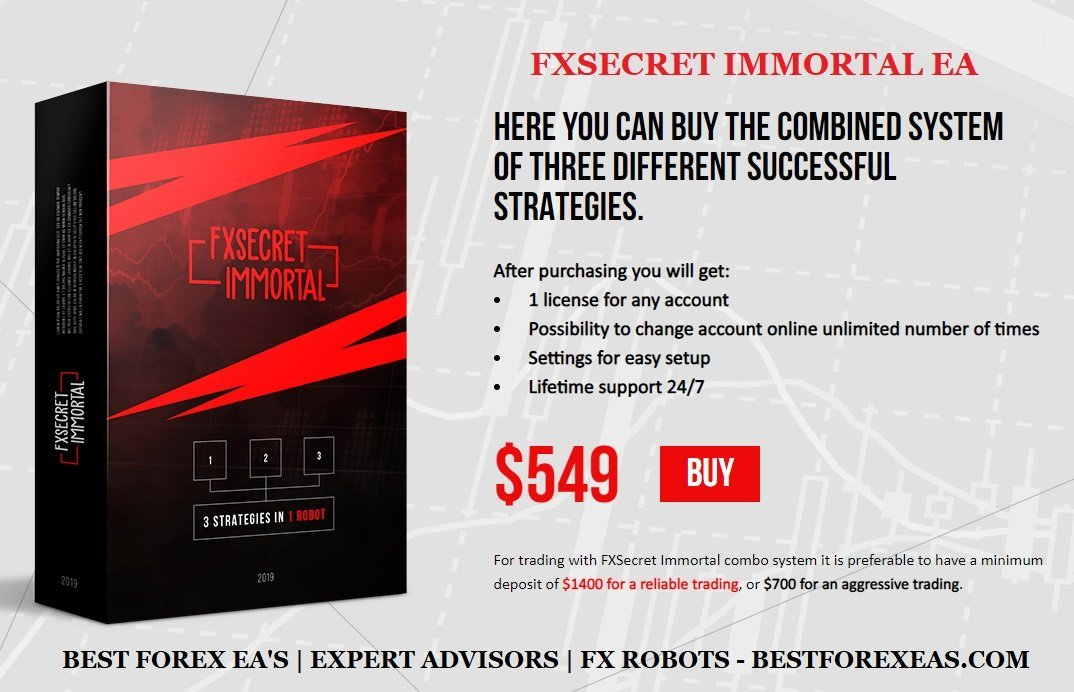 FXSecret Immortal EA Review - FX Secret Immortal EA Is A Set Of 3 Profitable Forex Expert Advisors Created By The Private FX Secret Group Of Successful Traders That Provides The Best Automated Solutions For Trading On Forex Market