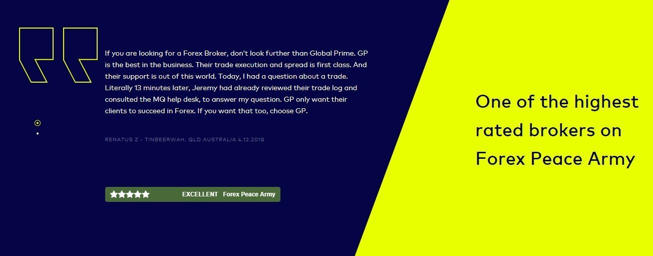 Global Prime Review - One Of The Highest rated Brokers On Forex Peace Army Forum (FPA)