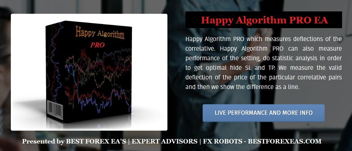 Happy Algorithm PRO EA Review - Happy Algorithm PRO EA Is The Best FX Expert Advisor For Long-Term Profits And Reliable Forex Trading Robot For Metatrader 4 (MT4) Platform Created By The Happy Forex Team