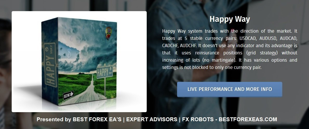 Happy Way EA Review - Happy Way EA Is A Profitable FX Expert Advisor With Low Drawdown And Reliable Forex Trading Robot For Metatrader 4 (MT4) Platform Created By Happy Forex Group