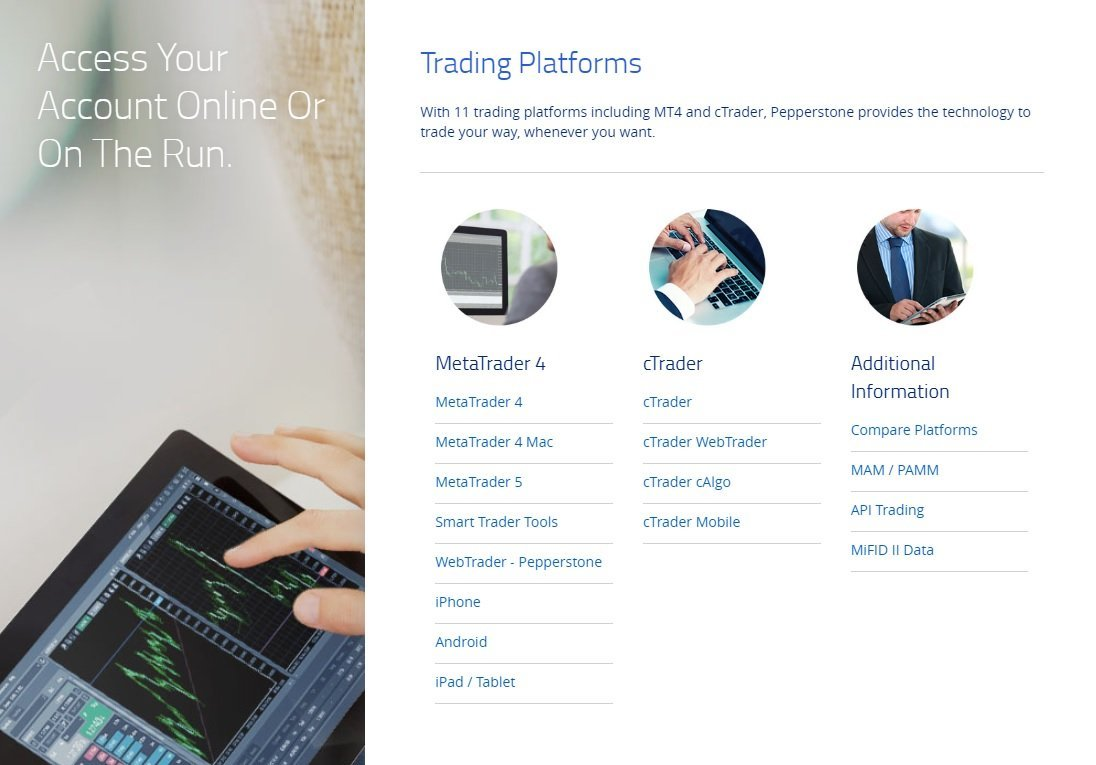 Pepperstone Review - The Forex Broker Provides Trading Platforms Like Metatrader 4, Metatrader 5 And cTrader