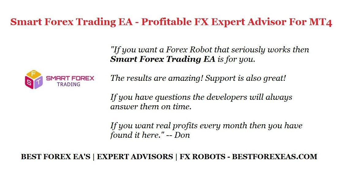 Smart Forex Trading EA Review - Smart Forex Trading EA Is A Profitable FX Expert Advisor And Reliable Forex TradeCopier Service For The Metatrader 4 (MT4) Trading Platform