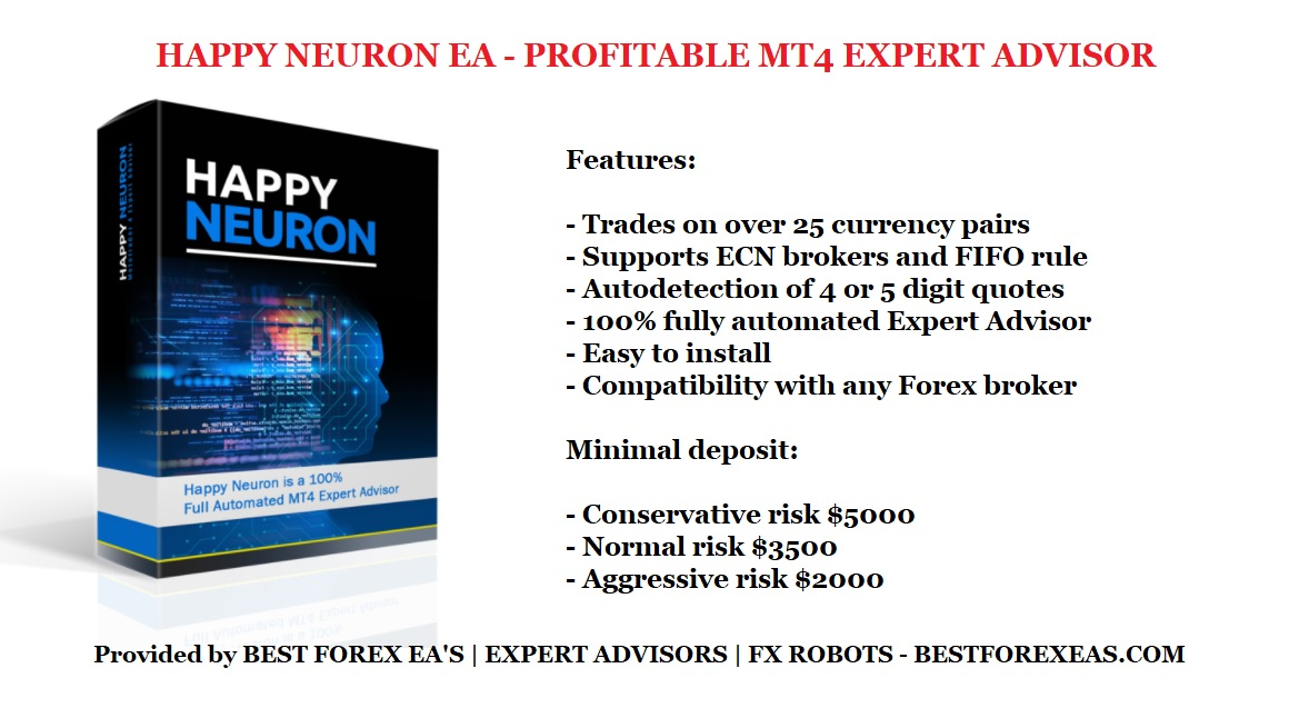 Happy Neuron EA Review - Happy Neuron Forex Robot Is A Profitable Forex Trading Robot And Reliable FX Expert Advisor For Metatrader 4 (MT4) Trading Platform Created By Happy Forex Team Of Professional Traders