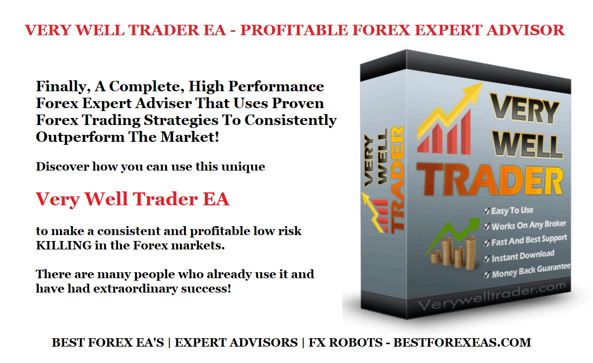 Very Well Trader EA Review - Very Well Trader Robot Is A Powerful Forex Robot For Metatrader 4 (MT4) Trading Platform And Reliable FX Expert Advisor For Long-Term Profits